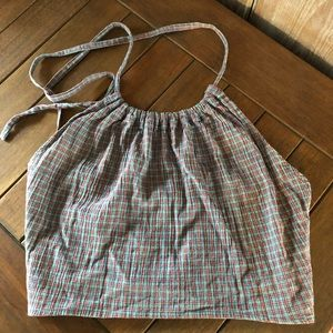 J. Crew cropped halter top